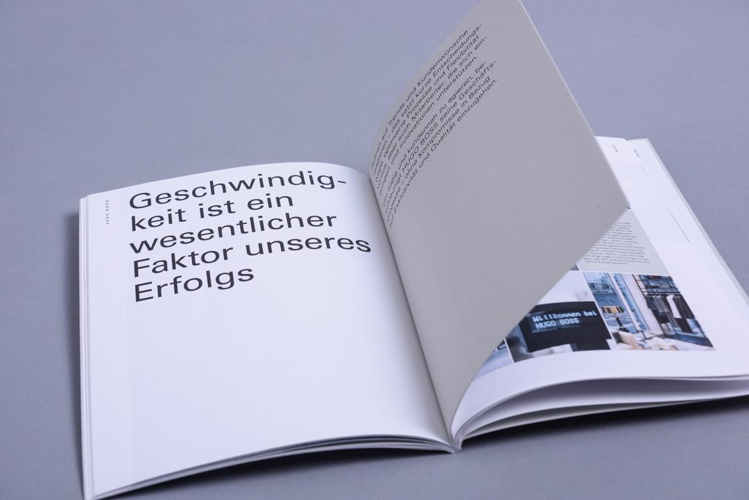 HUGO BOSS Konzernprofil Typografie